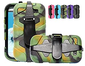 S3 SHOCKPROOF CASE, Mobile King USA Shockproof Military Heavy Duty Rugged Case Samsung Galaxy S3 i9300 (Camo)