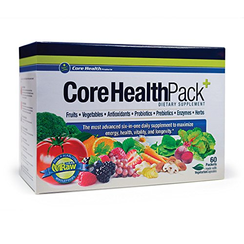 Core Health Pack:: 7 Products in 1 Convenient System:: Fruits, Vegetables, Antioxidants, Probiotics, Prebiotics, Enzymes & Herbs:: Best Value
