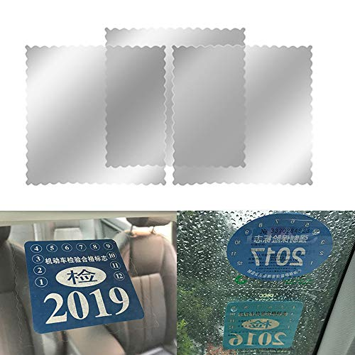 YGMONER Car Electrostatic Stickers & Windshield Sticker - Easy to Apply and Strip, Keep The Windshield Clean - for Annual Inspection Stickers, Parking Permit (30 - Permit Parking Decals