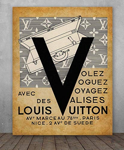 Poster - Louis Vuitton - Choose Unframed Poster or Canvas - Makes a Great Gift for Bedroom or Bathroom Decor