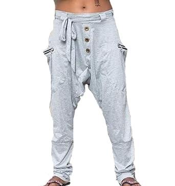 Babao Mujeres Pantalones Holgados De Harén Pantalones De ...