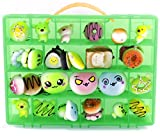 Life Made Better Toy Organizer. Fits Up to 30 Squishy Phone Charms. Compatible With Ithee Charm Keychain, Random Jumbo Mini Soft Squishy, Trasfit Phone Charm Key Chain Strap- Green