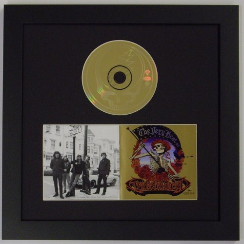 Cd Frame for Cd Disc and Double Booklet Frame Featuring a Black Mat Design and Solid Wood Black Frame