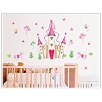 Wall Stickers Art Large Princess Fairy Castle Wall Stickers Wall Decals Kids Bedroom Nursery