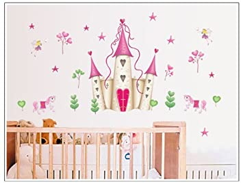 Wall Stickers Art Large Princess Fairy Castle Wall Stickers Wall ...