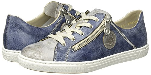 jeans Rieker Femme L0943 Basses Bleu Sneakers grey HRYwqHA