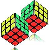 Dreampark スピードキューブ 2個セット(3×3、3×3) 立体パズル 競技専用 スムーズに回転 世界基準配色 脳トレ ストレス解消 ポップ防止 お子様への誕生日 クリスマスのプレゼント