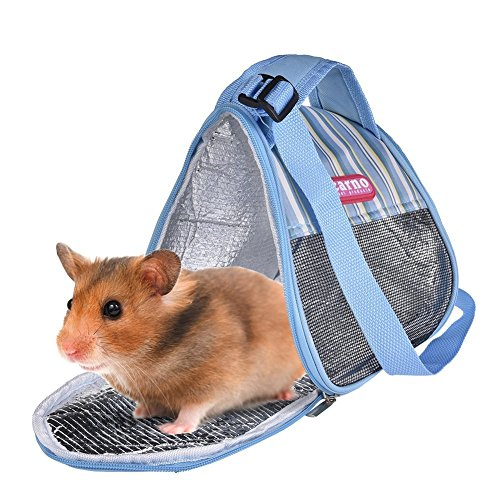 Image of RYPET Hamster Carrier Bag - Portable Breathable Outgoing Bag for Guinea Pig Hedgehog Squirrel Chinchilla and Other Similar Sized Animal