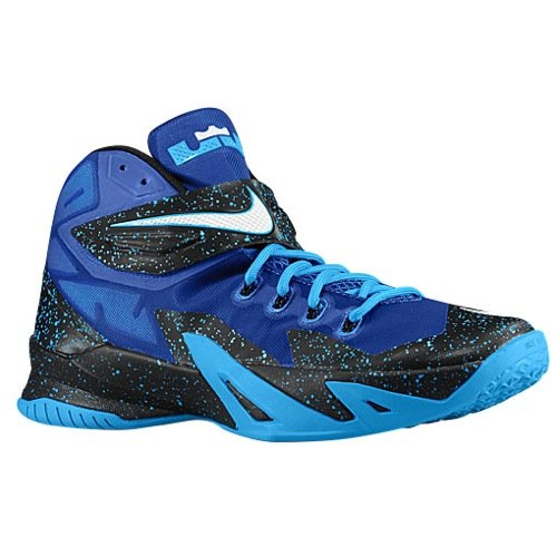 Nike Zoom Soldier VIII PRM - Size 9 - Men's Basketball Shoes - Black/Blue - 414