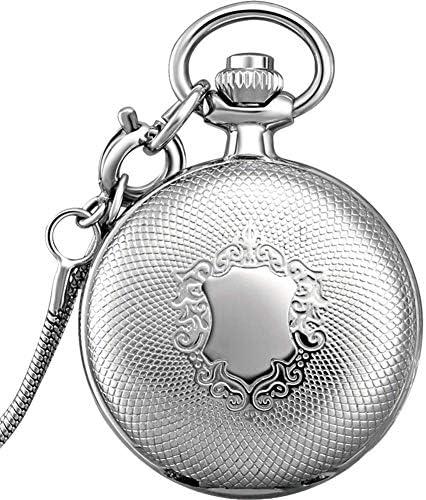 懐中時計 懐中時計、学生ナースウォッチ懐中時計ネックレスハンギング表表表レトロフリップ胸Shiying懐表表 ギフト、お土産、収集品レトロで懐かしい