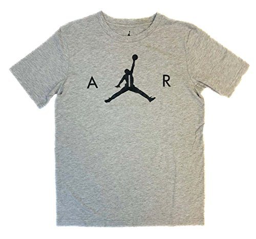 Nike Air Jordan 8-20 Boys' Youth Crew Neck Tee (Carbon Heather, Large)