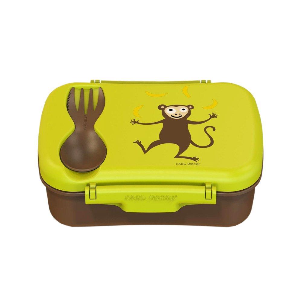 Carl Oscar Nice Box Kids- Bento Box scatola per spuntino/pranzo con piastra eutettica mantiene freddo per diverse ore, 17 cm x 12,5 cm x 6,3 cm color Lime