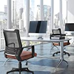 Yaheetech Executive Office Chair with PU Leather Padded Seat and Mesh Back Ergonomic Desk Chair with Lumbar Support