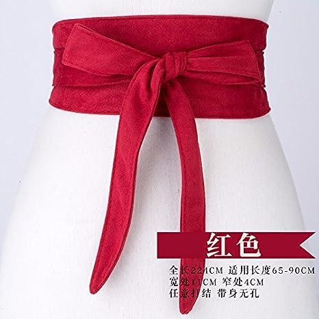 Moda Velluto Farfalla Rosso Maglione Vita Ampio Cinturino Donna Decorativo In Cappotto Bracciale Cintura aqaO1wxr
