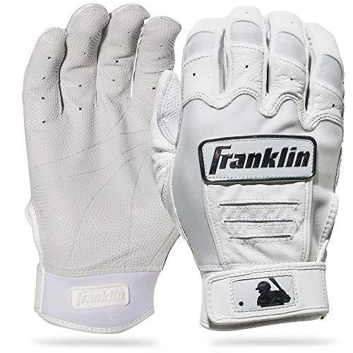 Franklin Sports CFX Pro Full Color Chrome Series Batting Gloves CFX Pro Full Color Chrome Batting Gloves, White, Adult Large