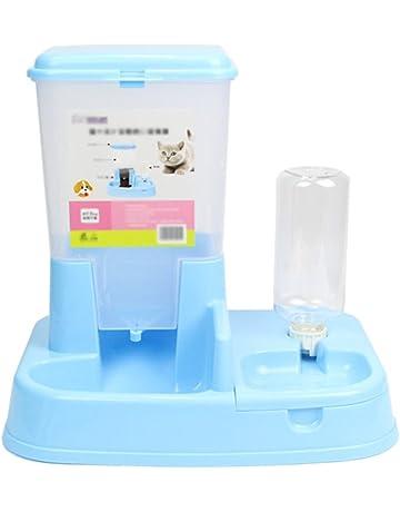 Scrox 1X 2 en 1 Dispensador automático de Alimentos para Perros y Gatos Combinación práctica Multifuncional