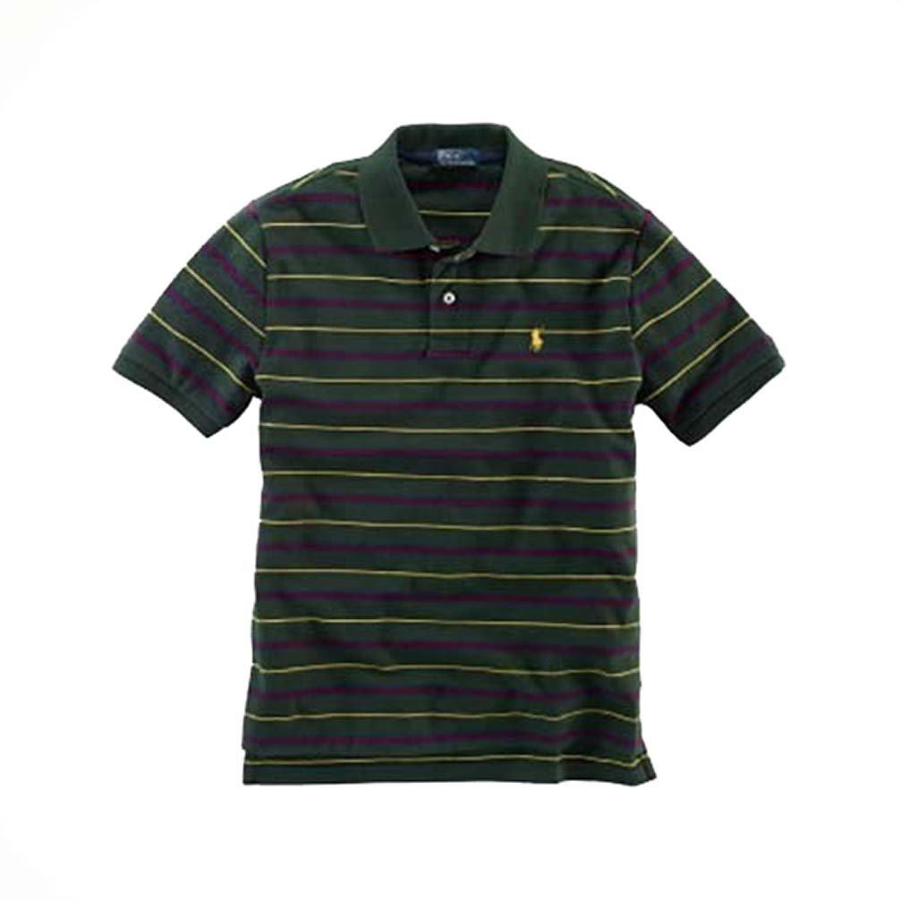 10-12 yrs Green Medium Polo Ralph Lauren Boys Stripe Mesh T-Shirt