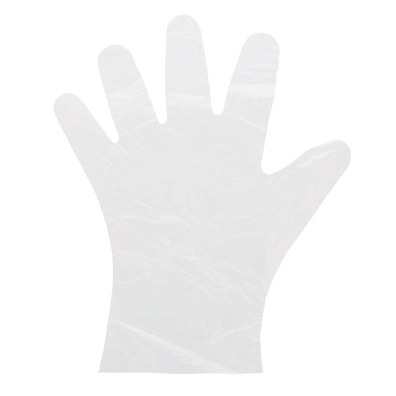AmerCare Foodguard Disposable HDPE Gloves, Powder Free, Medium, Case of 2000