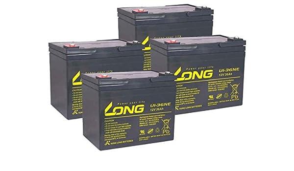 Patinete eléctrico batería 2000 eco-flash 48 V 4 x 12 V 36Ah ...
