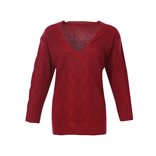 Femme over Chandail Pull Sfit Tricot Top Awax8fZq