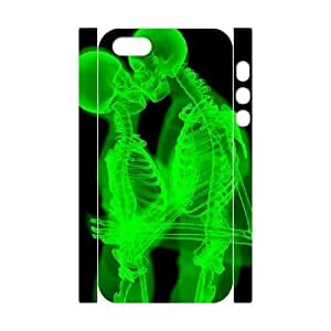 3D Skeleton Kiss X Rar For SamSung Galaxy S4 Mini Phone Case Cover White