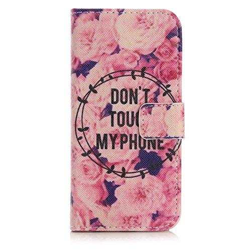 iPhone 8 / 7 Tasche, Arktis Schutzhülle - Don't Touch My Phone