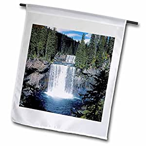 Danita Delimont - Waterfalls - USA, Wyoming, Yellowstone NP, Colonade Falls - US51 BFR0011 - Bernard Friel - 18 x 27 inch Garden Flag (fl_97229_2)