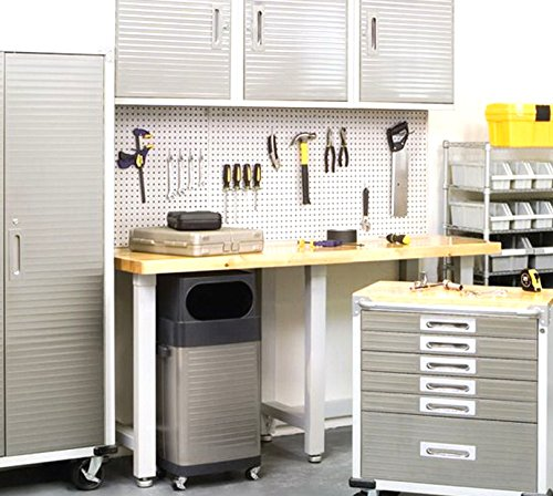 - WallPeg 12 sq ft Workbench Pegboard Organizer Kit with Locking Peg Hooks AM 24243W