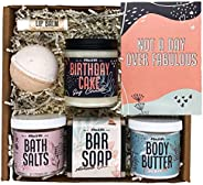 Birthday Gifts for Women by Wax & Wit | Relaxing Gift Basket for Women Wife Sister Girlfriend, Spa Set Bir