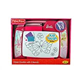 Kid Tough Doodler - Barbie Kid Tough Doodler with 2 Stencils - Limited Edition By Fisher Price