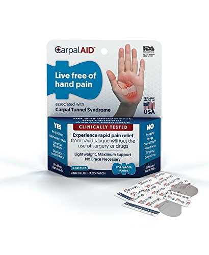 Carpal AID, Functional Support for Carpal Tunnel Syndrome - Best Carpal Tunnel Brace for Ultimate Relief, Count 6 - Size Large by Carpal Aid
