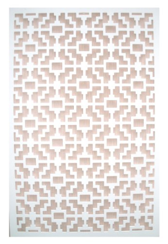 - Acurio Fret White Vinyl Lattice Decorative Privacy Panel