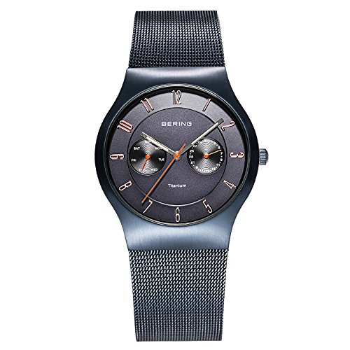 BERING Time 11939-393 Men's Classic Collection Watch with Mesh Band and scratch resistant sapphire crystal. Designed in Denmark.