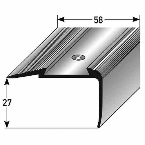 Perfil de escalera / Mamperlá n (27 mm x 58 mm) de aluminio anodizado, perforado, bronce oscuro Auer