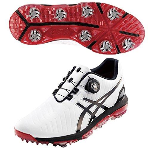 [アシックス] GEL-ACE PRO3 Boa ゲルエースプロ3ボア ゴルフシューズ ホワイト/ブラック TGN919