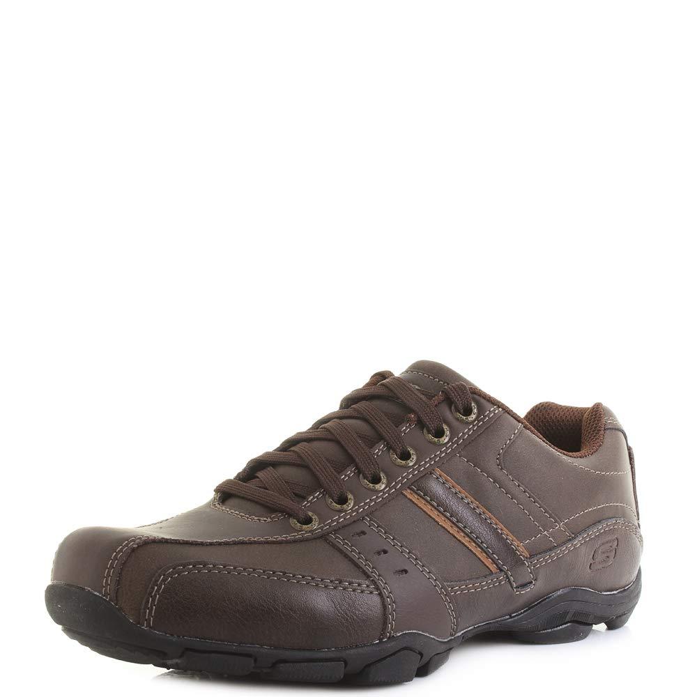 Skechers Marter-Life Changer Zapatos Informales de Piel con Cordones y Espuma con Memoria para Hombre