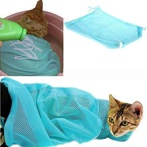 iPet-Adjustable-Polyester-Mesh-Big-Cat-Grooming-Bag-Dog-Cleaning-No-Scratching-Biting-Restraint-for-Bathing-Nail-Trimming-Injecting-Examing