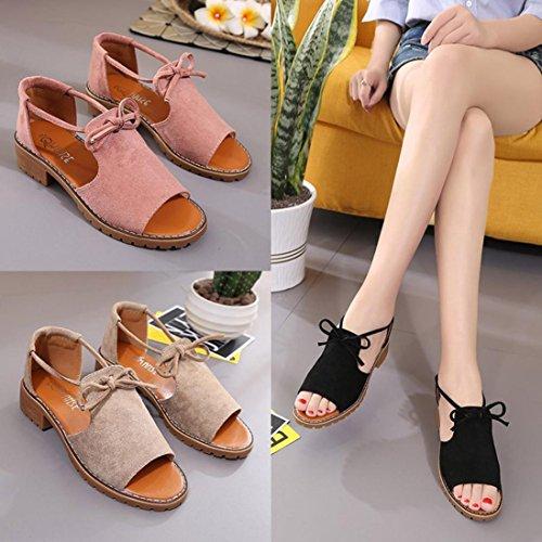Ete Talons Noir Bohème Plage Femmes Oyedens Été Chic Pantoufles Femme Sandales Plates Chaussures De Style qqPI68w