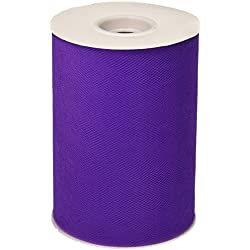BBCrafts Purple Polyester Tulle Roll 6 inch 100 Yards