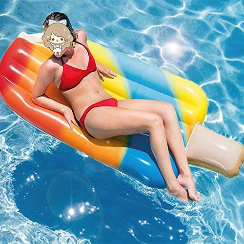 LICCC Yate Adulto de PVC natación Anillo de natación Helado ...
