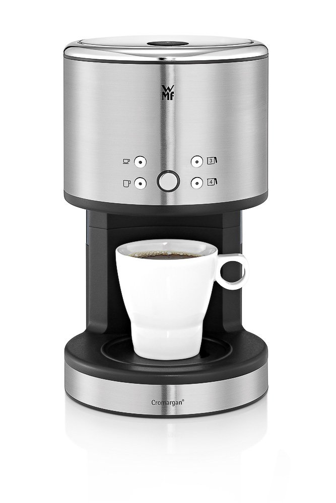 WMF Coup AromaOne - coffee makers (freestanding, Drip coffee maker, Ground coffee, Black, Chrome, Touch, 50/60 Hz) 6130245301
