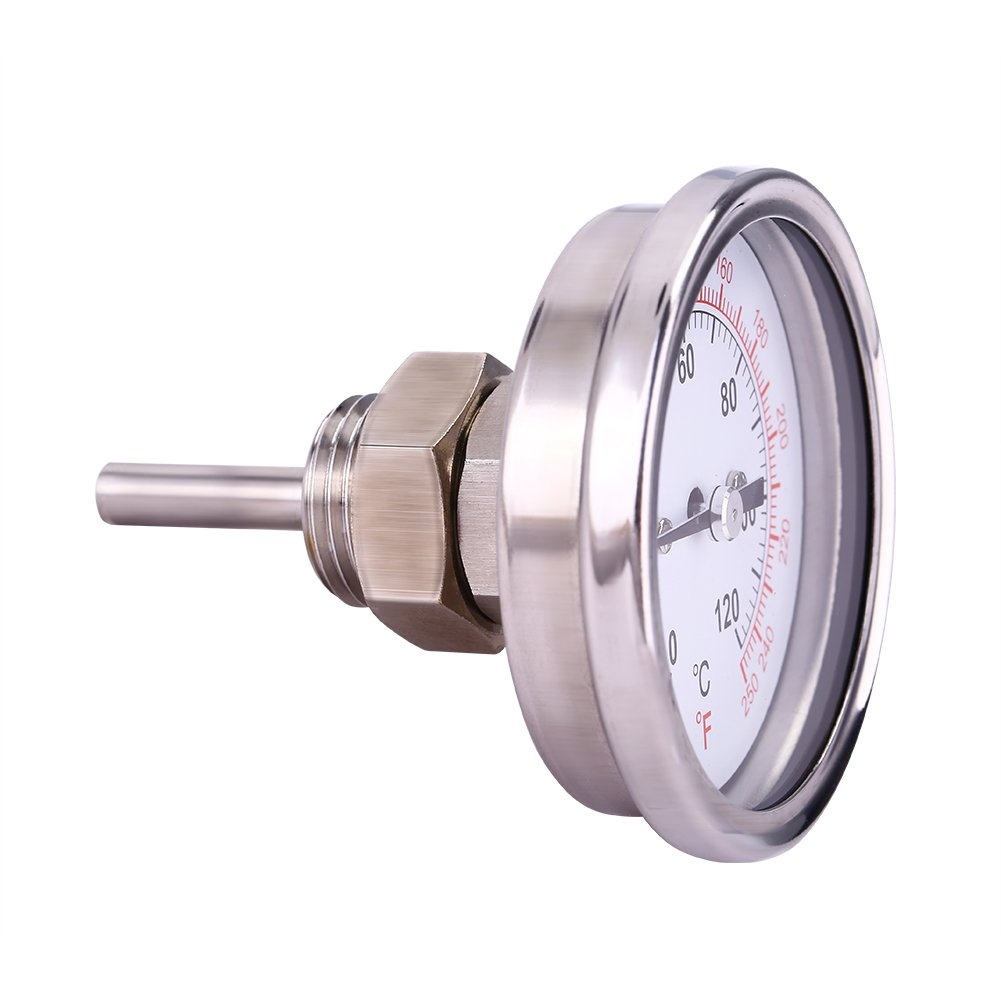 BBQ Thermometer,0℃-120℃ Stainless Steel Dial Instant Read Thermometer,Temperature Meter Tester for Grill,Oven,Machine, Chemical,Light-Textile,Medical Industry