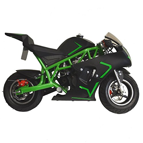 Go-Bowen Mini Gas Pocket Bike On 40cc (Green) (Gas Mini Pump)