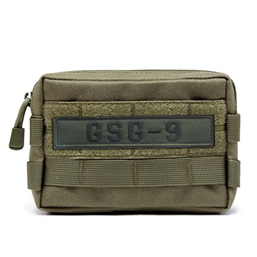 Tuoke Molle Pouch Tactical Medical First Aid Ifak Kit Utility Pouch Ultra Lightweight Waterproof Durable Fanny Pack For Hunting Camping Hiking Workout     Green