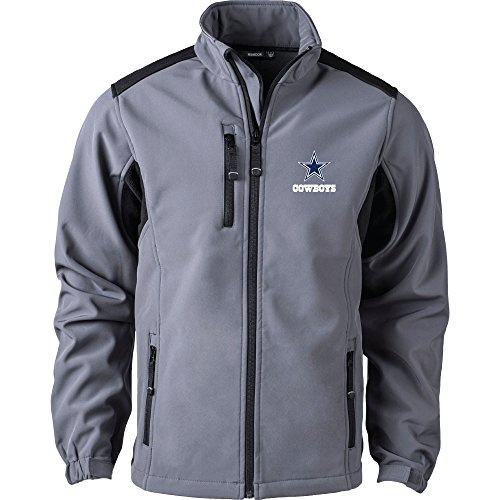 NFL Dallas Cowboys Men's Softshell Jacket, X-Large, Graphite