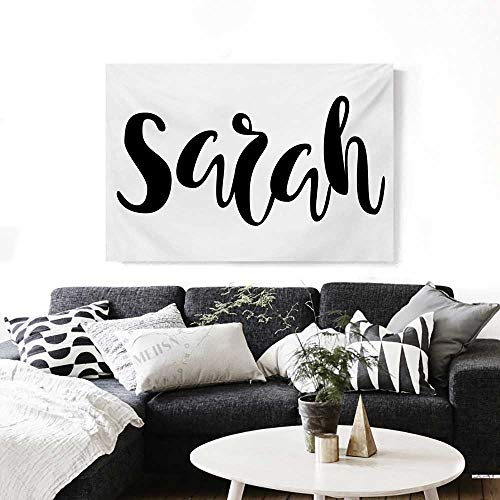 Sarah Modern Canvas Painting Wall Art Monochrome Popular Female Name Modern  Calligraphy Hand Drawn Signature Lettering Art Stickers 24