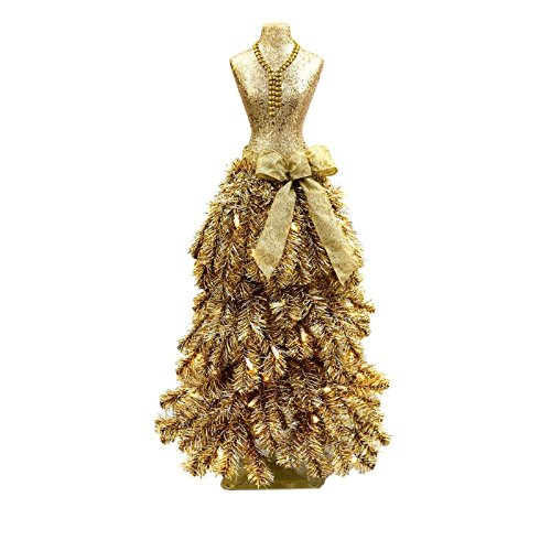 Premium 3' Dress Form Holiday Christmas Tree Mini Mannequin Champagne by MM