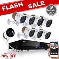 ELEC 8CH 960H Video Security System DVR Recorder with 8 Weatherproof Cameras 1500TVL 1.0 MP, 65ft Night Vision