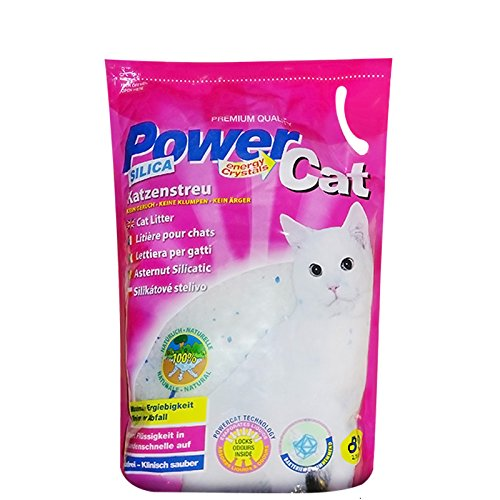 8 x 8 l = 64 L Power CAT Magic SILIKAT KATZENSTREU-PowerCat STREU-Forever CLEAN-