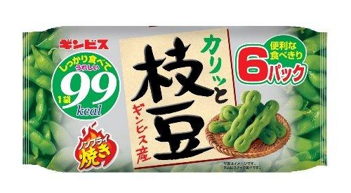Ginbisu edamame non-fried grilled 6P 120gX12 bags by Ginbisu